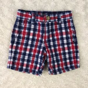 Janie and Jack 6-12 Months Plaid Shorts Red Blue
